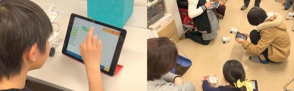 【満員御礼】8/10開催 親子で参加!キッズプログラミング教室 ~iPadで自動車ロボットを動かそう!~の写真です