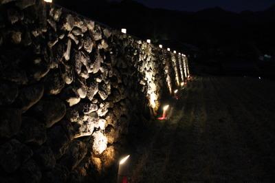 「日本の棚田百選」竹の棚田ライトアップ